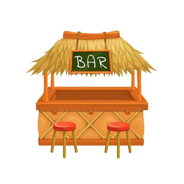 Tiki bar. Vettore Premium