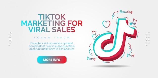Progettazione di social media tiktok Vettore Premium