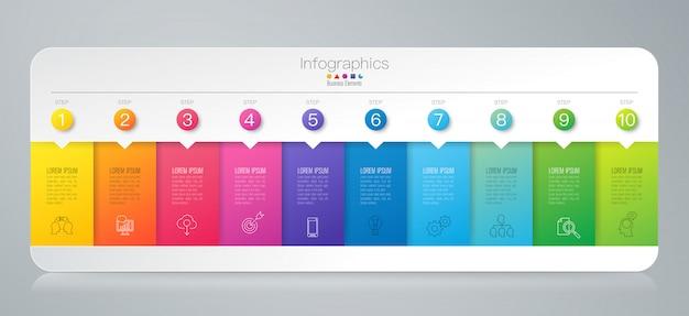 Elementi infographic timeline Vettore Premium