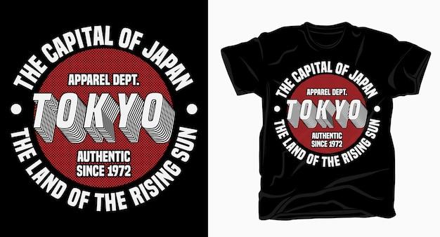 Tokyo, la capitale del design tipografico del giappone per la stampa di magliette Vettore Premium