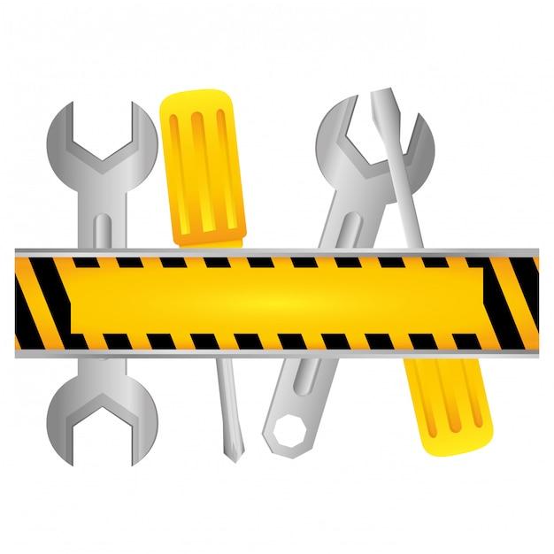 Icona di servizio tecnico degli strumenti Vettore Premium