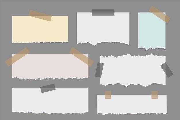 Raccolta di carta strappata Vettore Premium