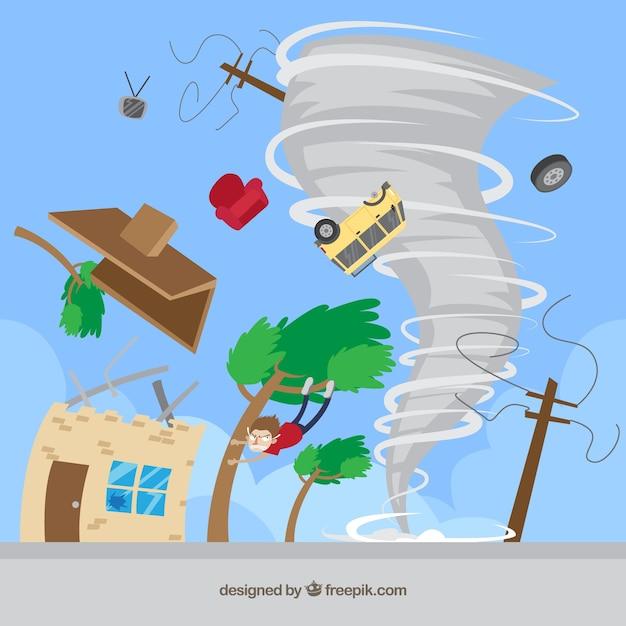 Design a tornado Vettore Premium