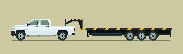 Camioncino da traino con rimorchio Vettore Premium