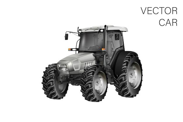 Illustrazione del trattore Vettore Premium