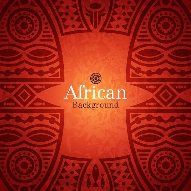 Sfondo tradizionale africana Vettore Premium