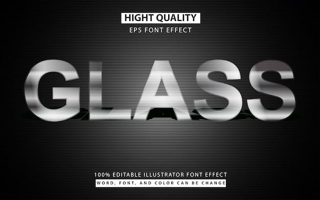 Effetto carattere di testo in vetro trasparente Vettore Premium