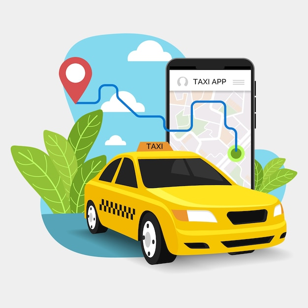 Servizio taxi applicazione di trasporto Vettore Premium