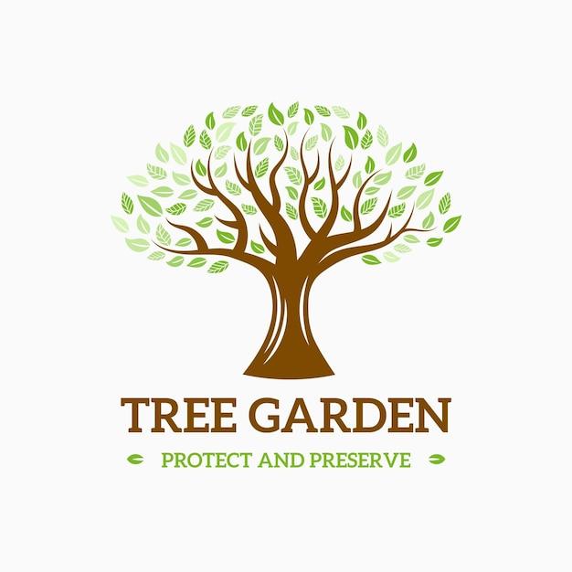Disegno di marchio di vita dell'albero Vettore Premium