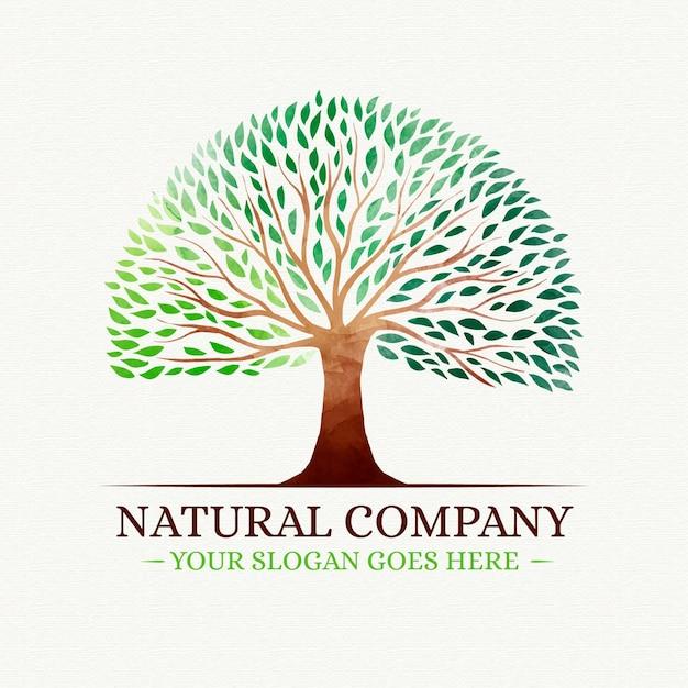 Logo della vita dell'albero Vettore Premium
