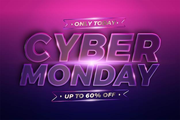 Promozione banner alla moda, cyber monday. Vettore Premium