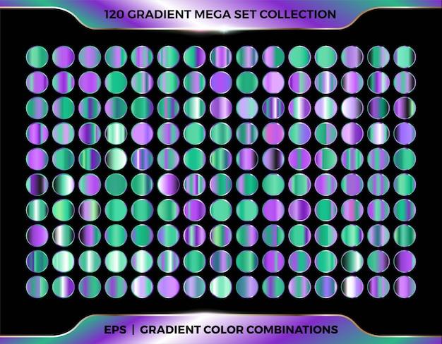 Colori brillanti sfumati colorati alla moda Vettore Premium