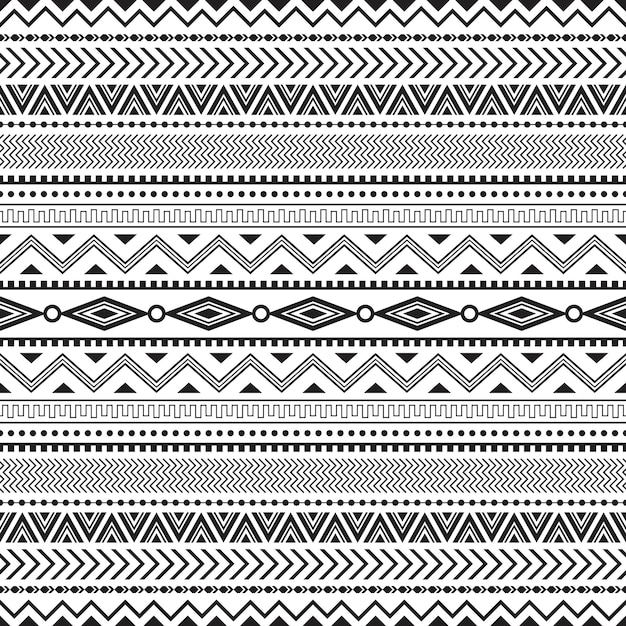 Modello senza cuciture tribale geometrico senza cuciture Vettore Premium