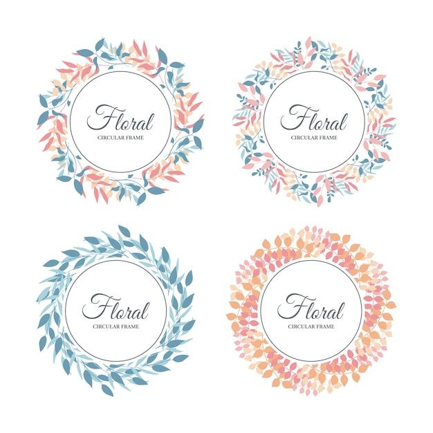 Cornice floreale tropicale, foglie tropicali esotiche e bordo floreale Vettore Premium