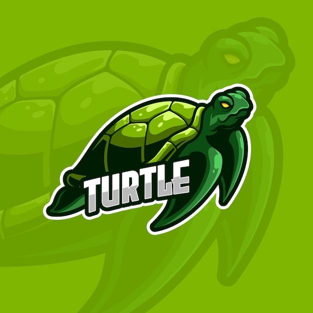 Turtle e-sport logo modello Vettore Premium