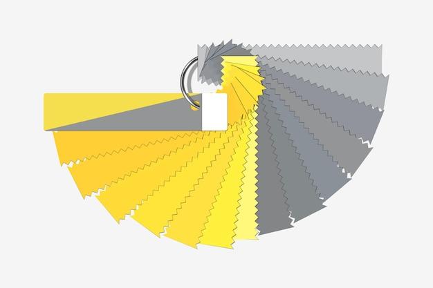 Colori ultimate grey e illuminating Vettore Premium