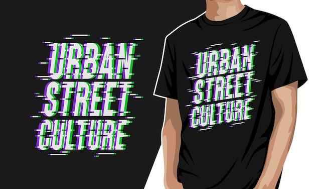 Cultura di strada urbana - t-shirt grafica Vettore Premium