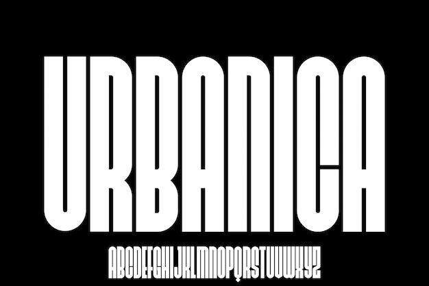 Urbanica urban font Vettore Premium