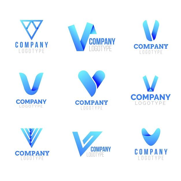 Collezione logo v. Vettore Premium