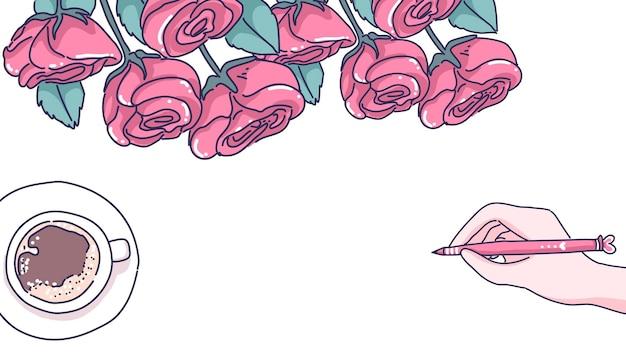 Illustrazione di sfondo san valentino Vettore Premium