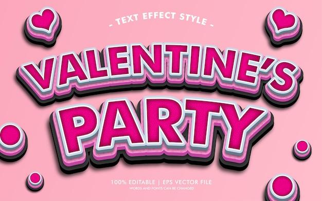 Stile di effetti del testo di san valentino Vettore Premium