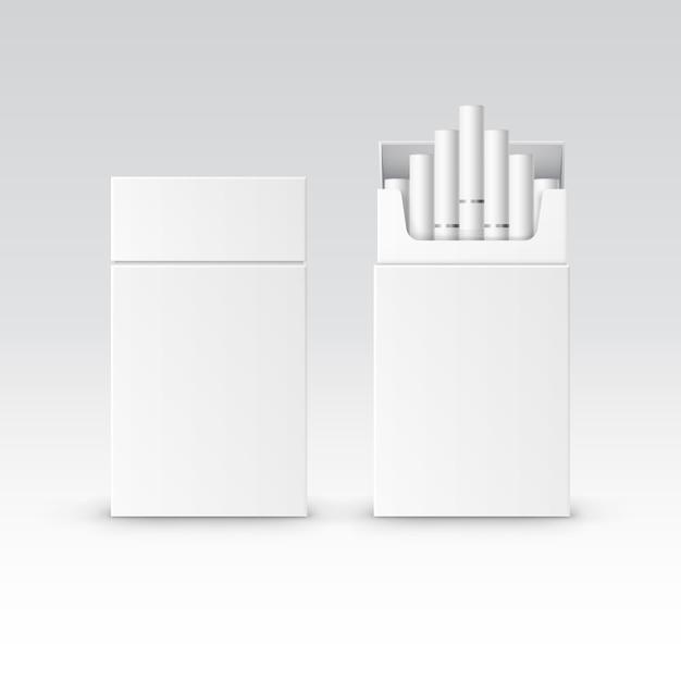 Pacchetto di pacchetto vuoto di vettore scatola di sigarette Vettore Premium