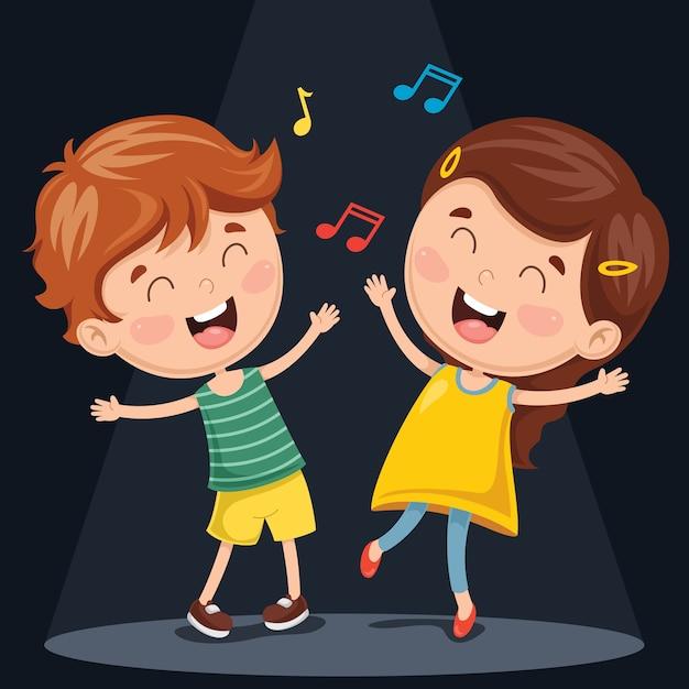 Illustrazione vettoriale di balli di bambini Vettore Premium