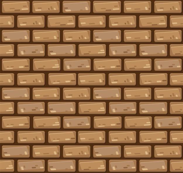 Muro di mattoni senza giunte di vettore. Vettore Premium