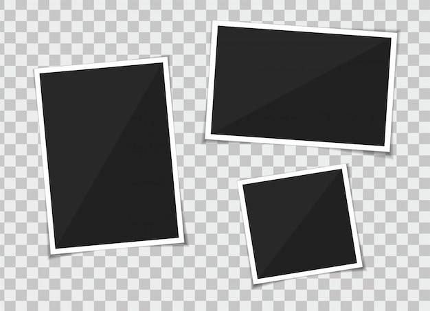 Insieme di vettore del modello cornice per foto Vettore Premium