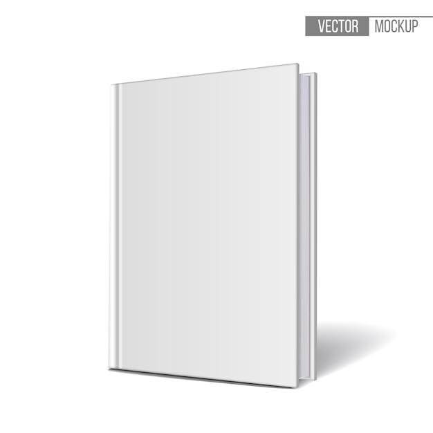 Libri modello verticalmente in piedi su uno sfondo bianco. illustrazione. Vettore Premium
