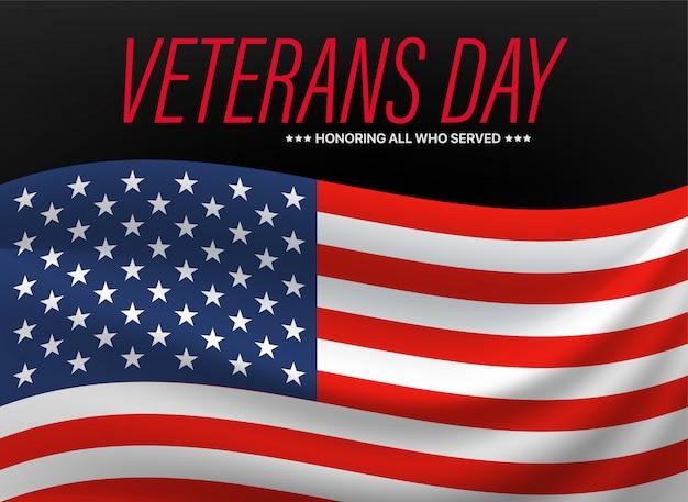 Giorno dei veterani. onorare tutti coloro che hanno servito. Vettore Premium