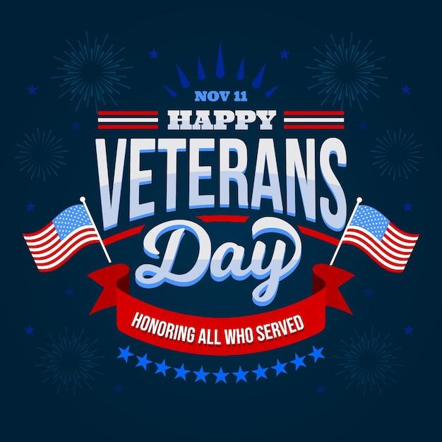 Giornata dei veterani - scritte Vettore Premium