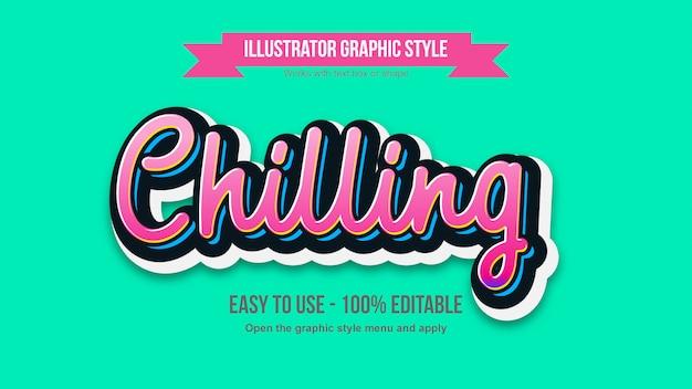 Effetto modificabile di tipografia scritta a mano rosa vibrante Vettore Premium