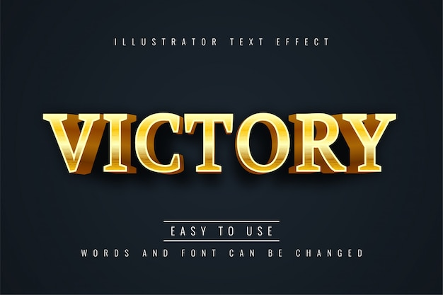 Effetto testo vittoria Vettore Premium