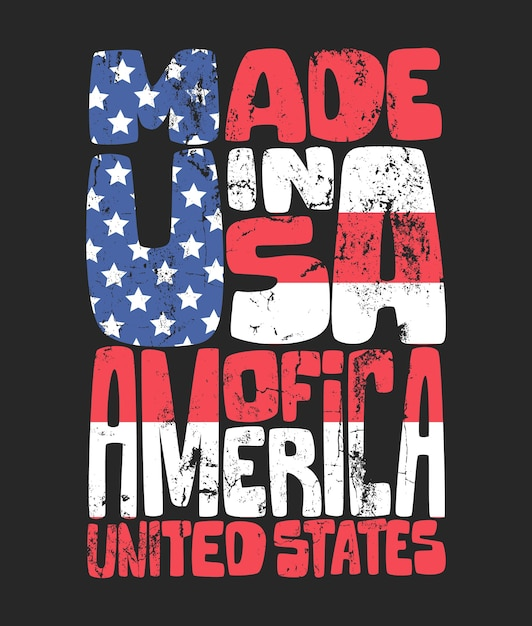 Grafica tshirt americana di tipografia vintage denim Vettore Premium