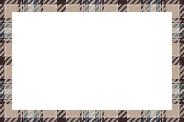 Vettore di cornice d'epoca. stile retrò modello confine scozzese. sfondo vuoto di bellezza, modello per foto, ritratto, album. ornamento scozzese in tartan. Vettore Premium