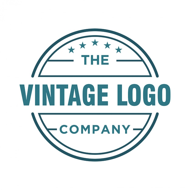 Logo design vintage per cibi e bevande Vettore Premium