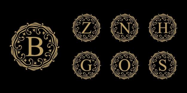 Collezione di logo lettera di lusso vintage Vettore Premium