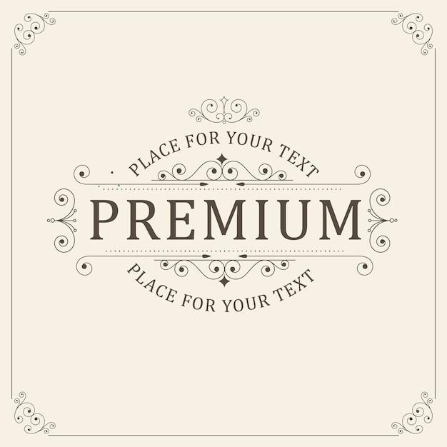 Carta di ornamento d'epoca Vettore Premium