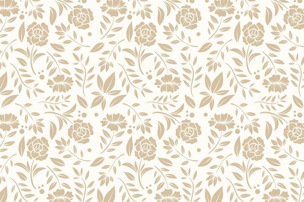 Sfondo ornamentale vintage con fiori Vettore Premium