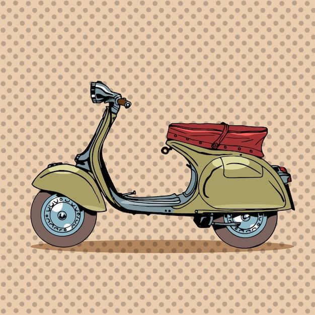 Trasporto retrò scooter d'epoca Vettore Premium