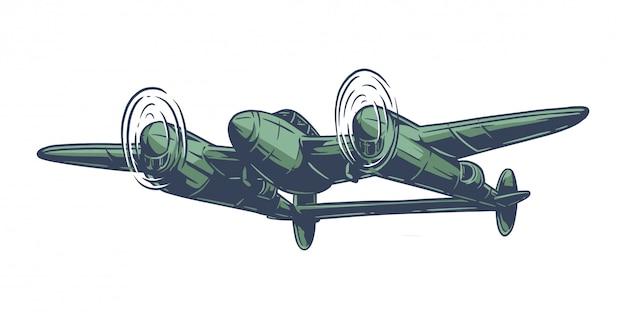 Aeroplano della seconda guerra mondiale dell'annata Vettore Premium