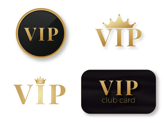 Vip logo del club. Vettore Premium