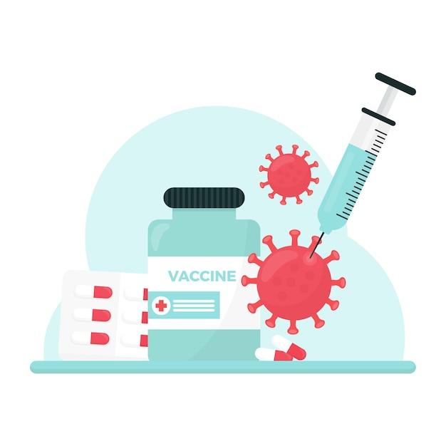 Concetto di cura del virus Vettore Premium