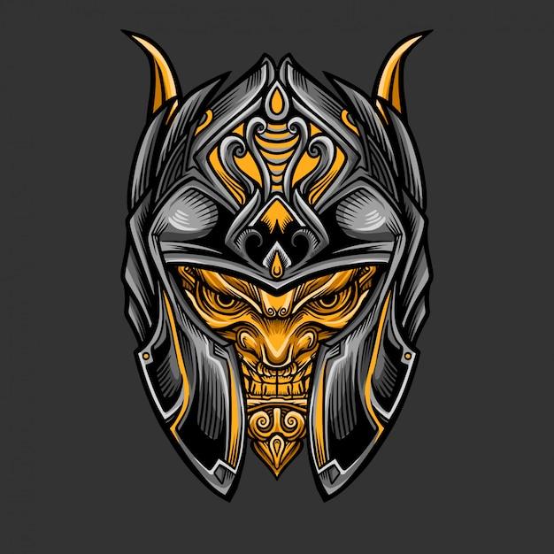 Casco warrior knight Vettore Premium