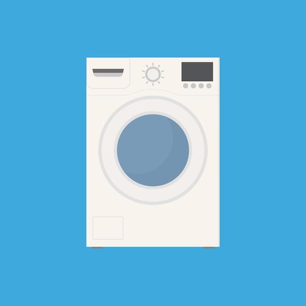 Icona piana di lavatrice Vettore Premium