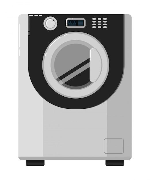 Lavatrice isolata su bianco Vettore Premium