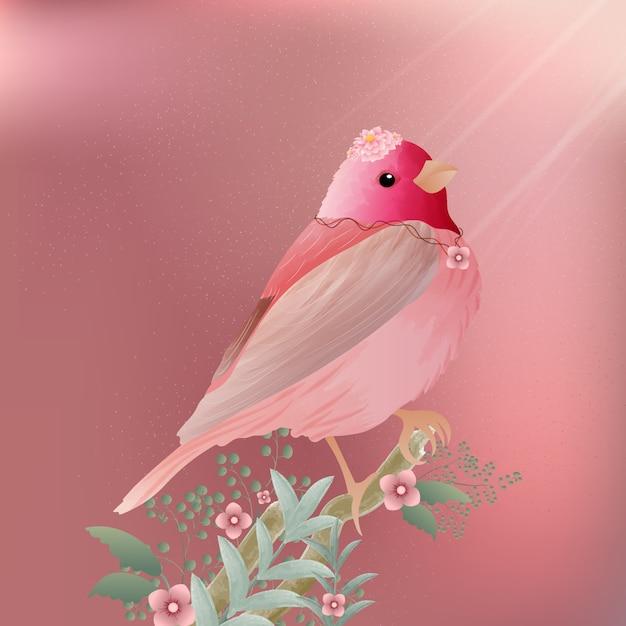 Acquerello di uccelli e uccelli selvatici dipinto d'epoca. Vettore Premium