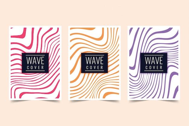 Design della copertura dell'onda Vettore Premium