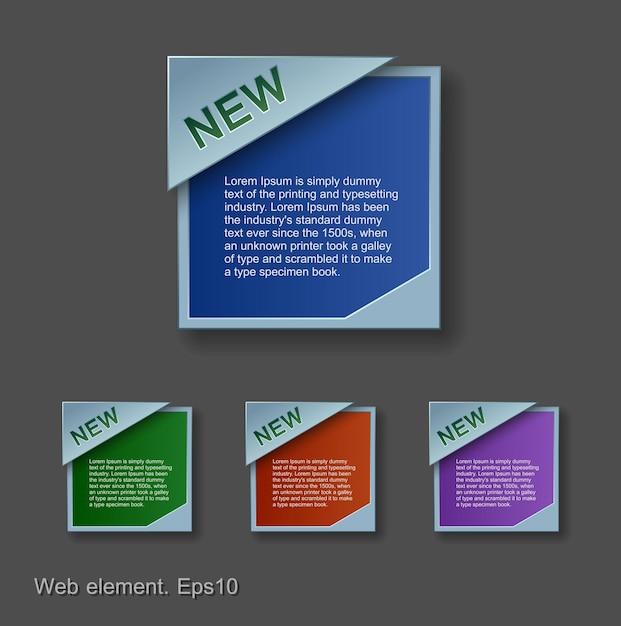 Progettazione di elementi web Vettore Premium